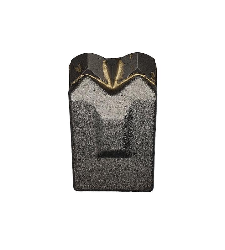 Carbide tipped mulcher hammer
